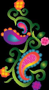 paisley, decorative, colorful