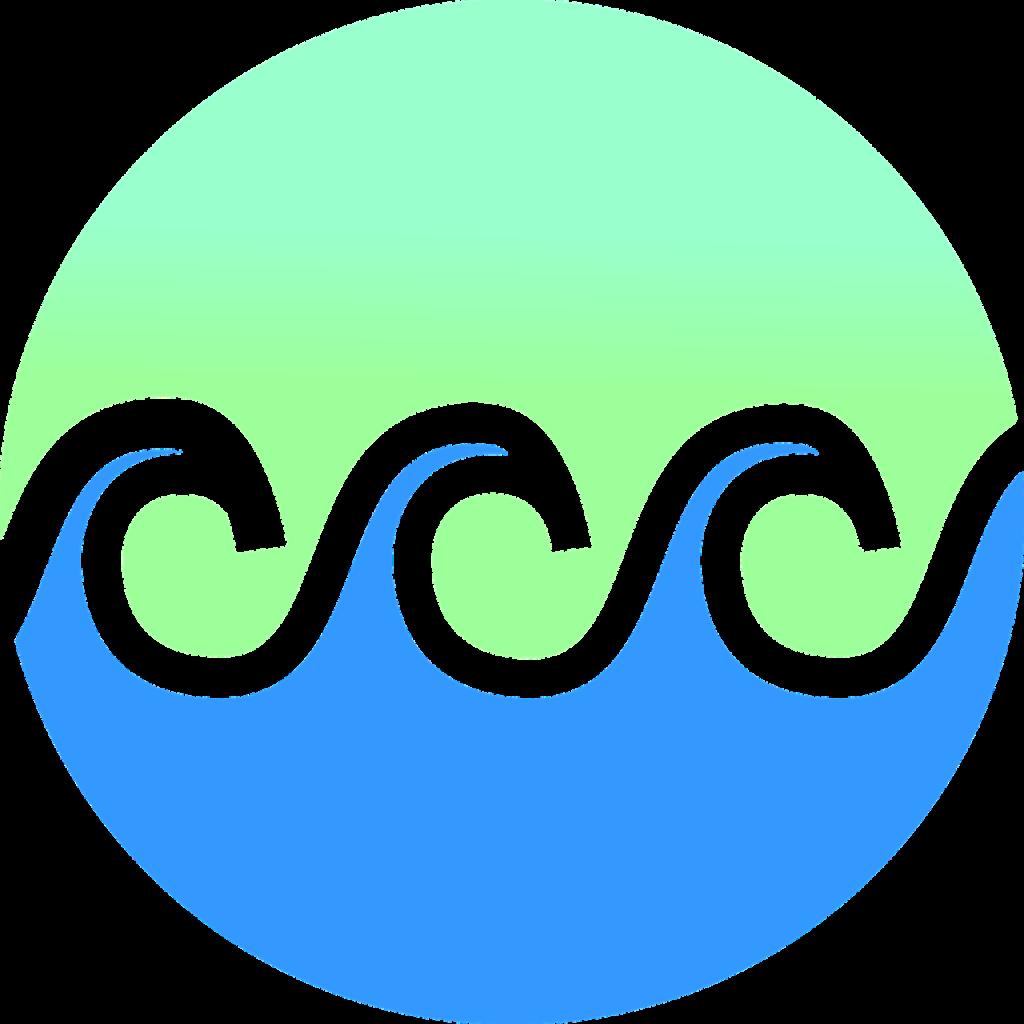 waves, gradient, beach
